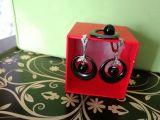 Набор серебряная подвеска с керамикой и фианитами с серьгами