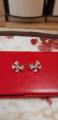 Серьги бантики с бриллиантами