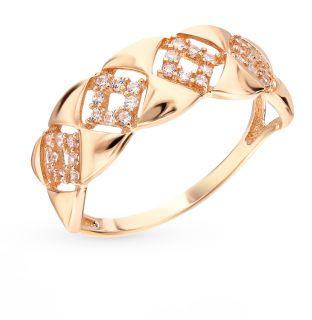Золотое кольцо с фианитами СОРОКИН 70108600*: красное и розовое золото 585 пробы, фианит — купить в интернет-магазине SUNLIGHT, фото, артикул 73594
