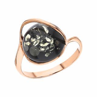 Серебряное кольцо с янтарем ЯНТАРНАЯ ЛАГУНА 4LP251: серебро, янтарь — купить в интернет-магазине SUNLIGHT, фото, артикул 150286