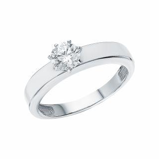 Серебряное кольцо с эмалью и фианитами swarovski SUNLIGHT 1-023-8110: белое серебро 925 пробы, фианит swarovski, эмаль — купить в интернет-магазине Санлайт, фото, артикул 157528