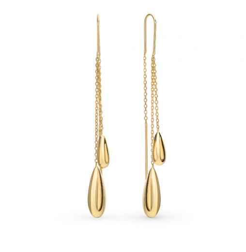 77947acb86a5 Золотые серьги — купить недорого в интернет-магазине SUNLIGHT в ...