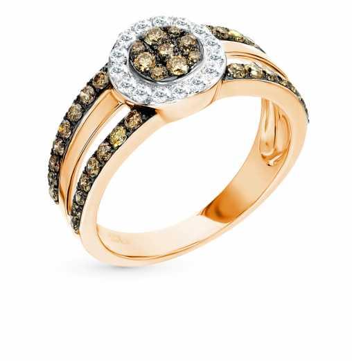 Украшения с коньячными бриллиантами — купить в каталоге с фото и ценами —  интернет-магазин SUNLIGHT в Москве 9c556bd172e