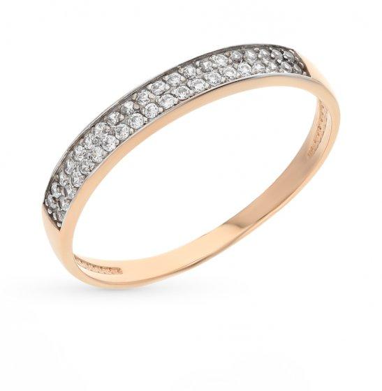 Золотое кольцо с фианитами ЗОЛОТОВ 2715567Р   красное и розовое ... 2c59de01d01
