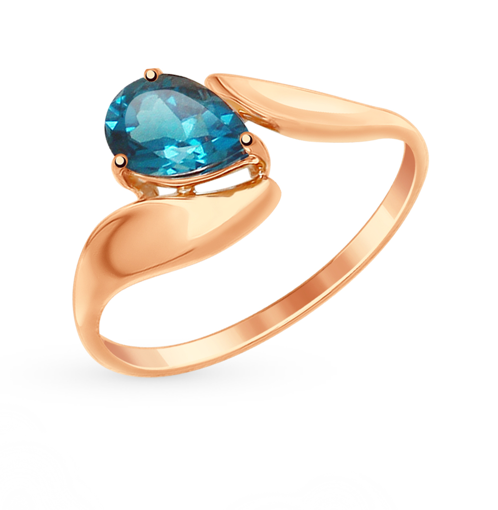 Фото «Золотое кольцо с топазами SOKOLOV 714867*»