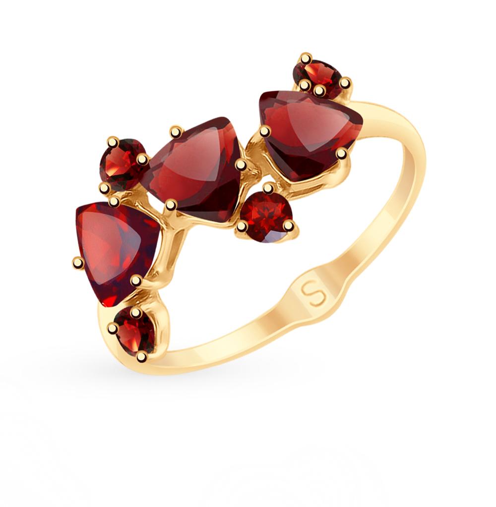Золотое кольцо с гранатом SOKOLOV 715143* в Санкт-Петербурге