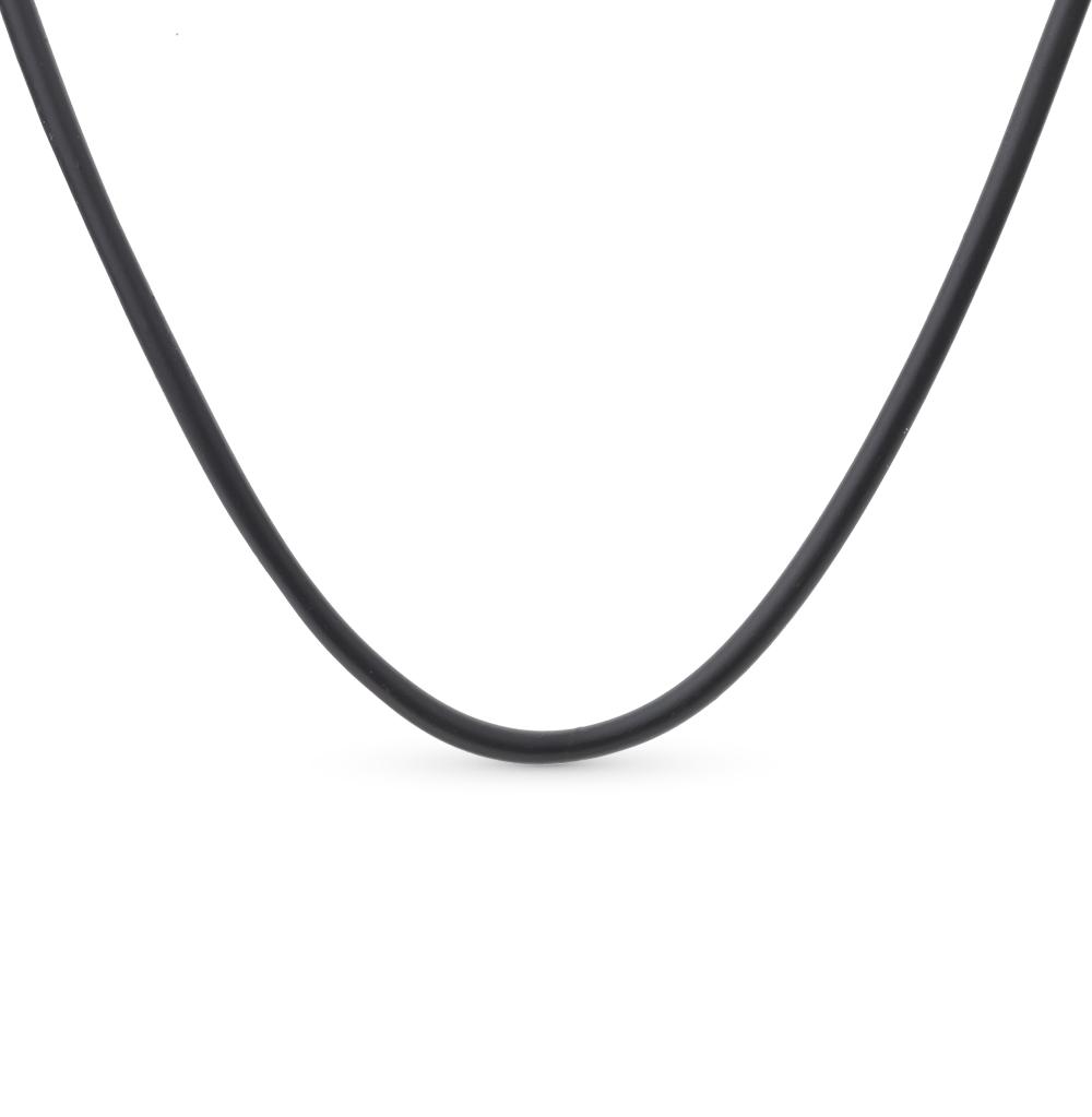 Каучуковое шейное украшение с серебром