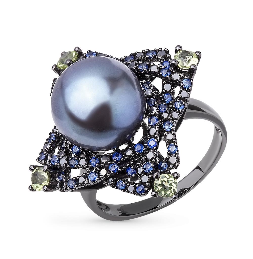 Фото «золотое кольцо с чёрными бриллиантами»