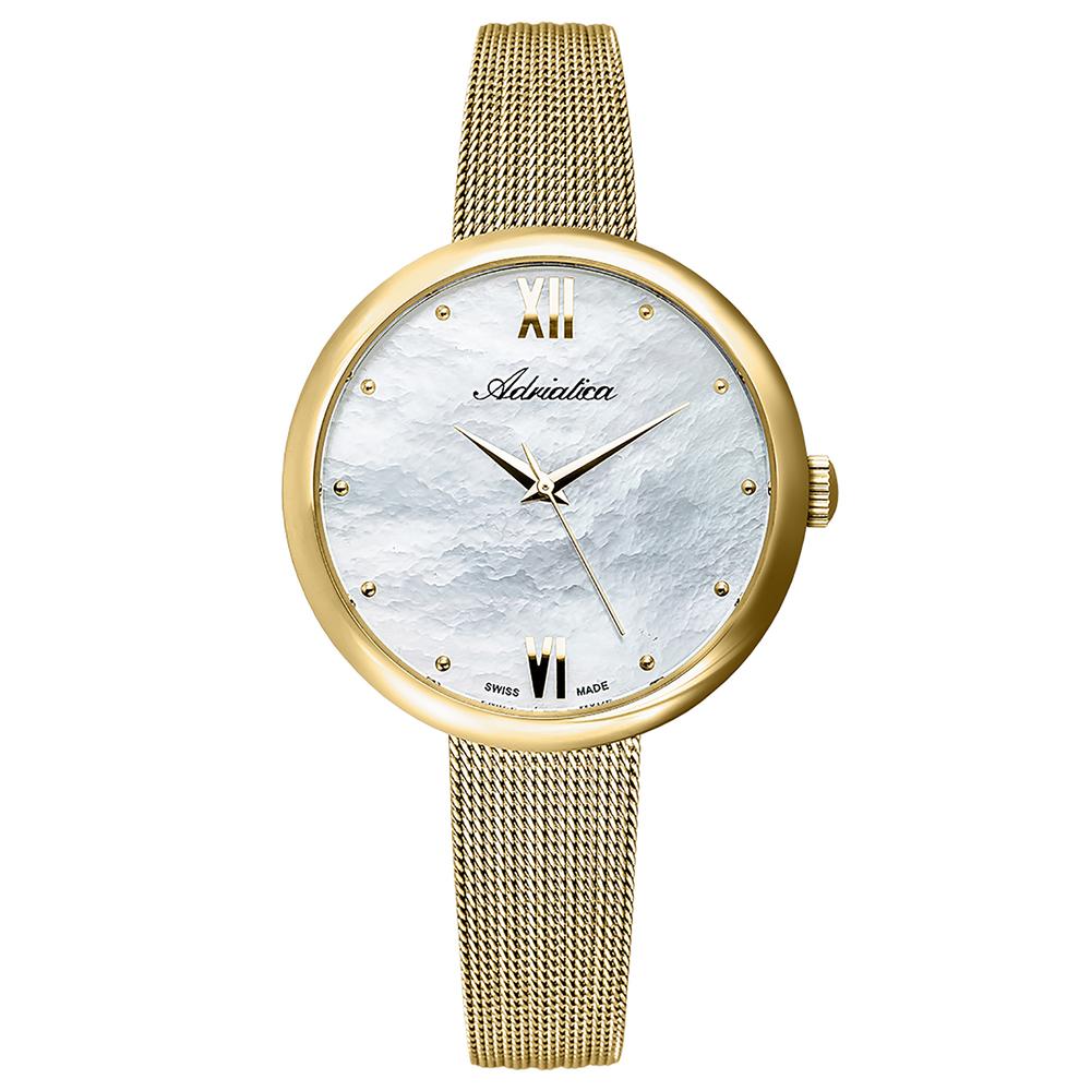 Фото «Женские часы A3632.118FQ на стальном браслете с PVD покрытием с минеральным стеклом»
