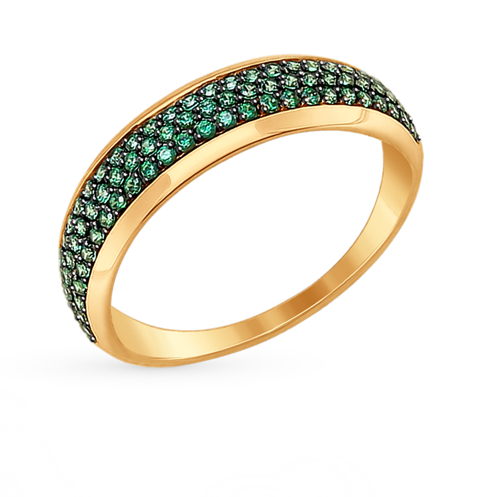 золотое кольцо с фианитами SOKOLOV 017377*