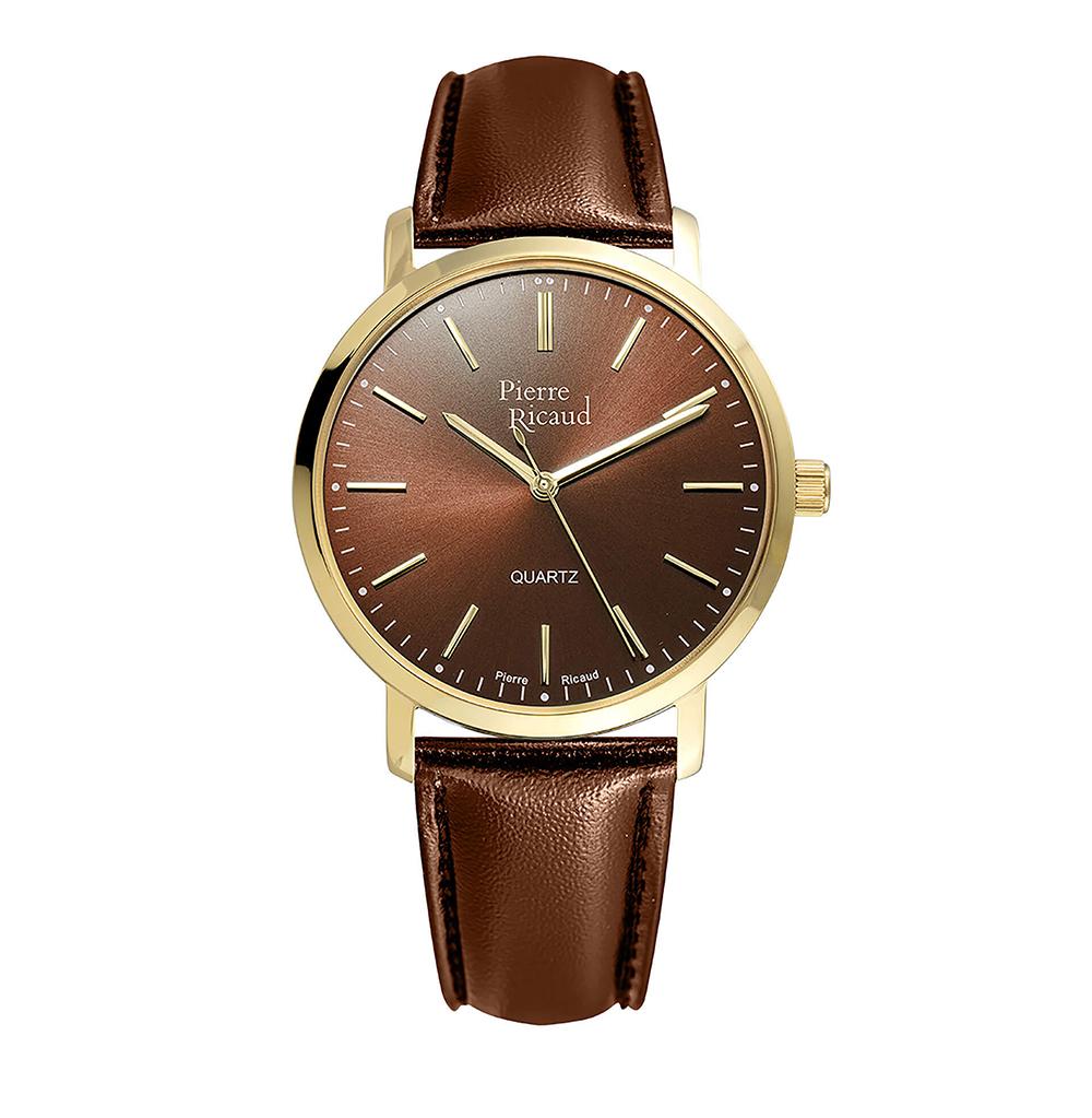 Мужские кварцевые часы P97215.1B1GQ на кожаном ремешке с минеральным стеклом в Санкт-Петербурге