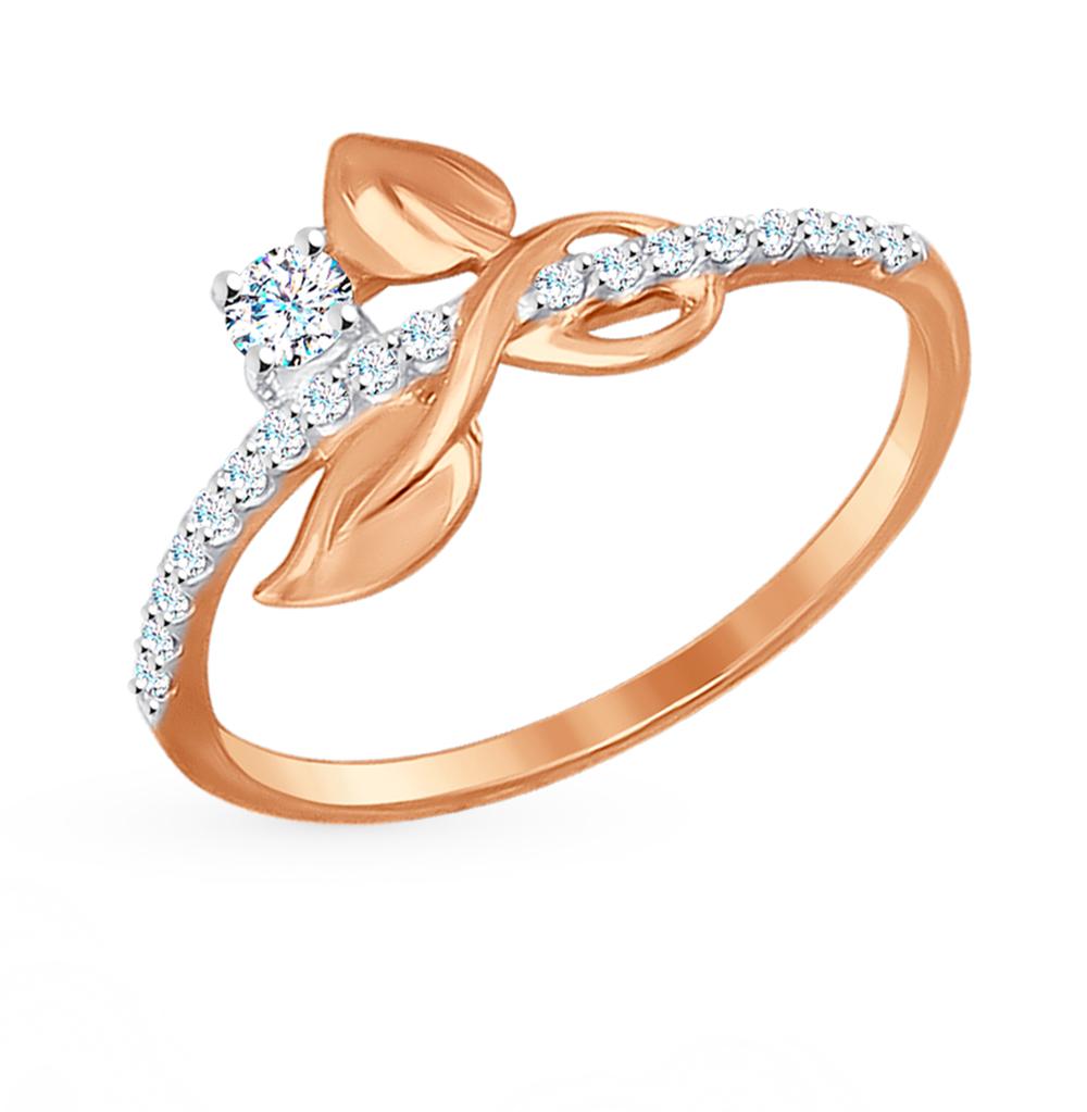 Золотое кольцо с фианитами SOKOLOV 017217 в Екатеринбурге