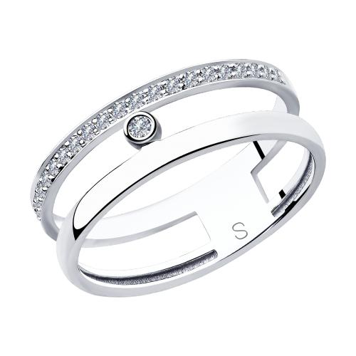 Фото «Золотое кольцо с бриллиантами SOKOLOV 1011850»