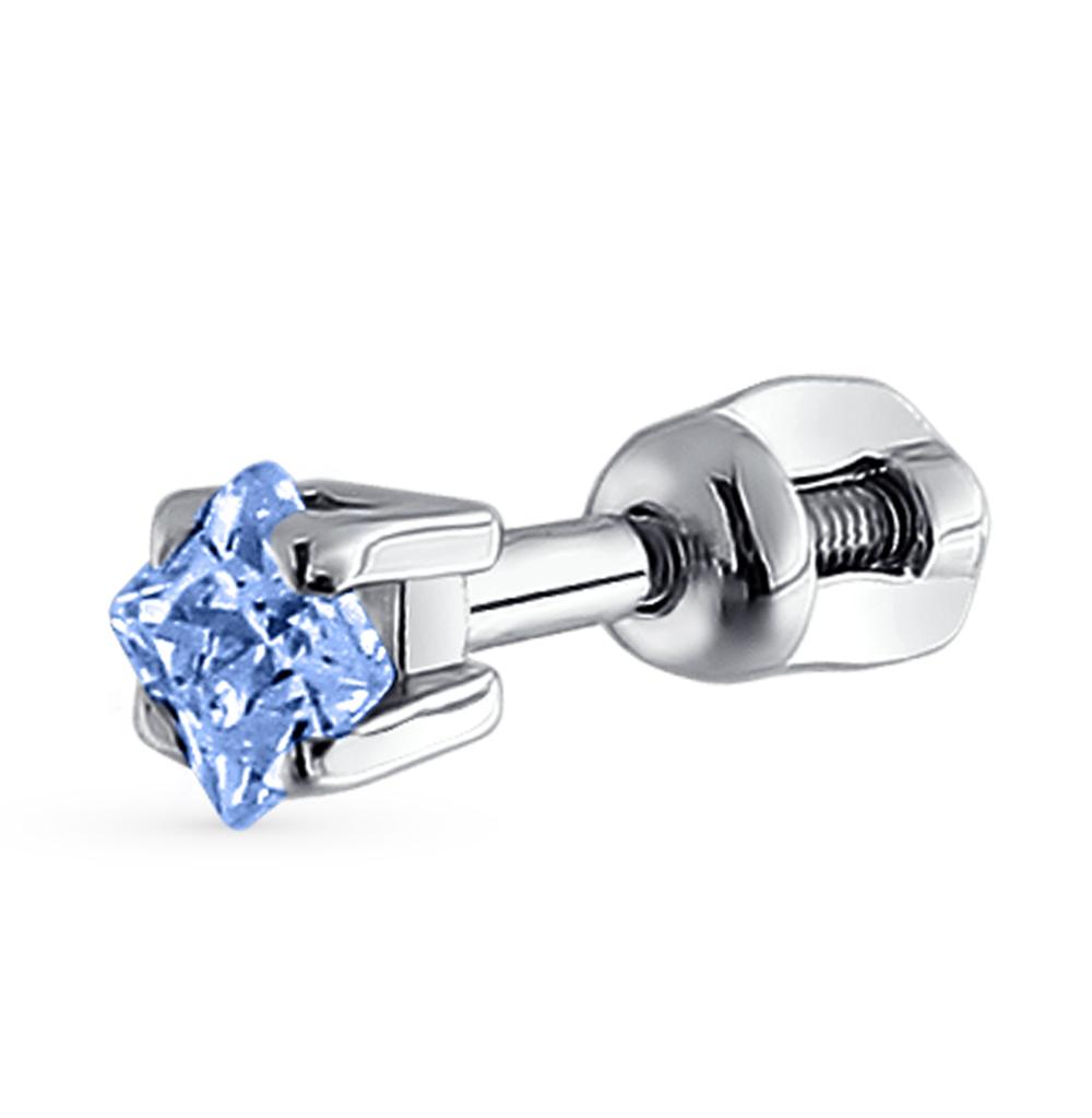 серебряная серьга с фианитами SOKOLOV 94170005