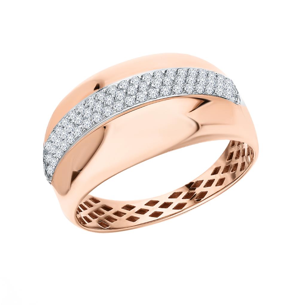 Фото «Золотое кольцо с фианитами SOKOLOV 018382*»
