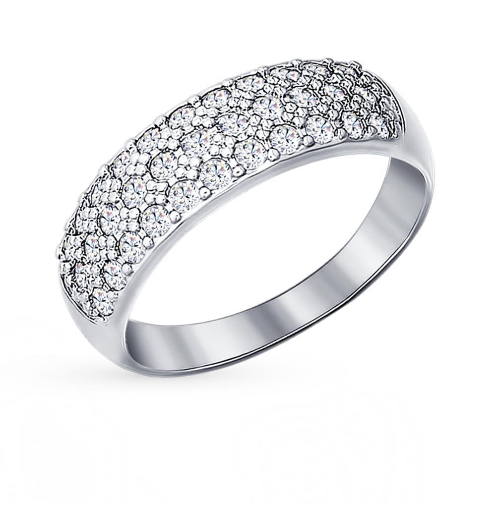 серебряное кольцо с фианитами SOKOLOV 94010062