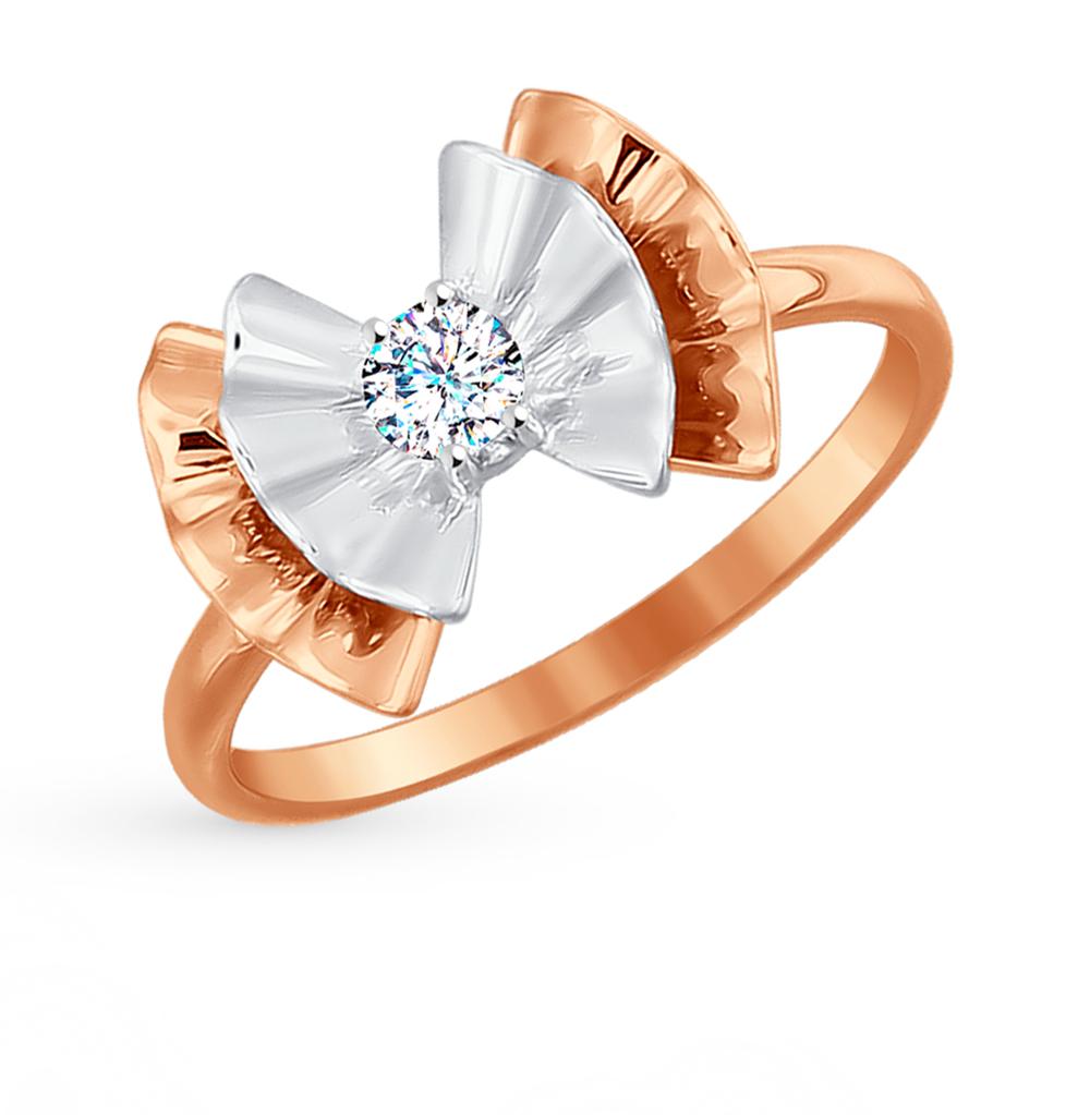 золотое кольцо с фианитами SOKOLOV 017016*