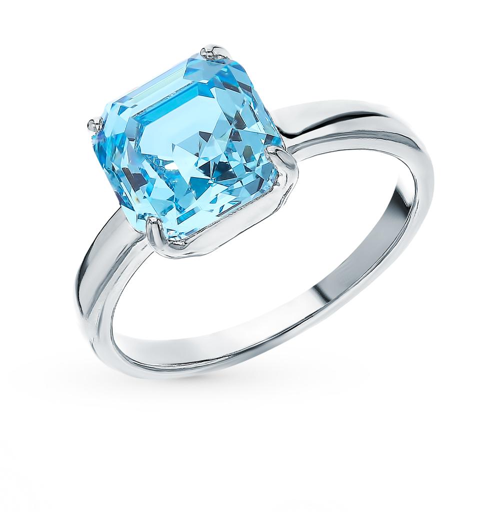 Фото «Серебряное кольцо с кристаллами swarovski SOKOLOV 94013124»