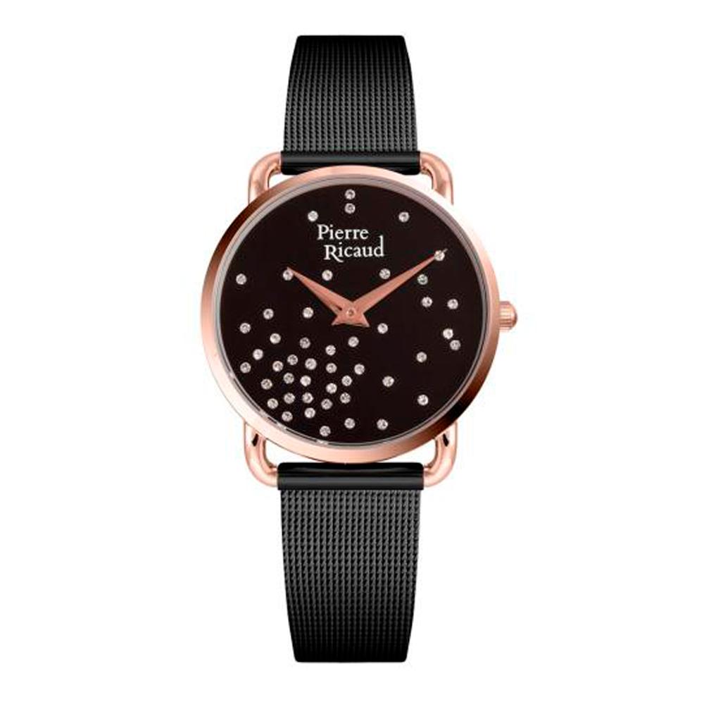 Женские часы P21066.K144Q на сталь с черным покрытием с минеральным стеклом
