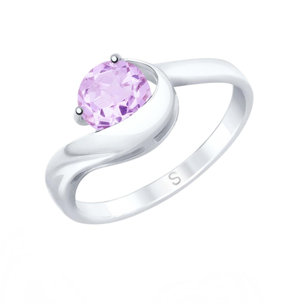 Фото «Серебряное кольцо с аметистом SOKOLOV 92011757»