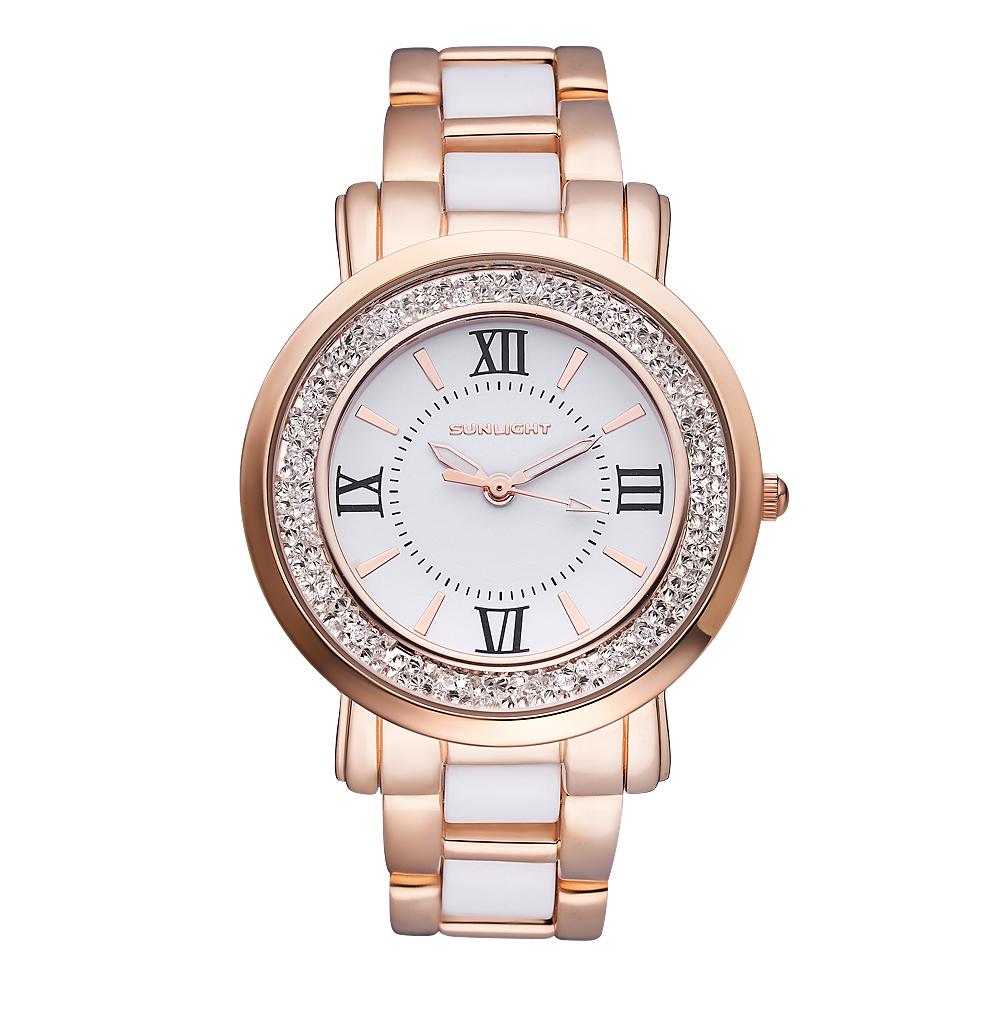 Женские часы с кристаллами на керамическом браслете в Екатеринбурге