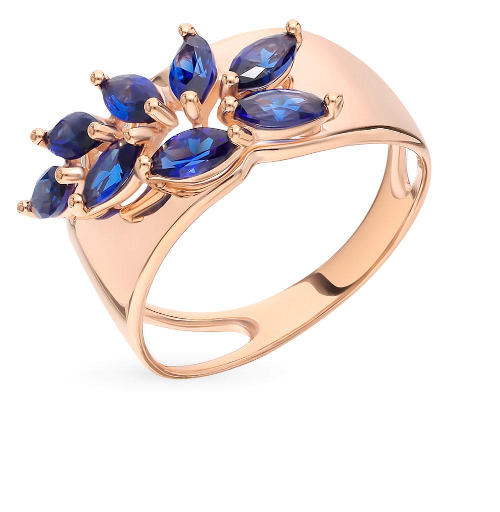 золотое кольцо с корундом SOKOLOV 715209*