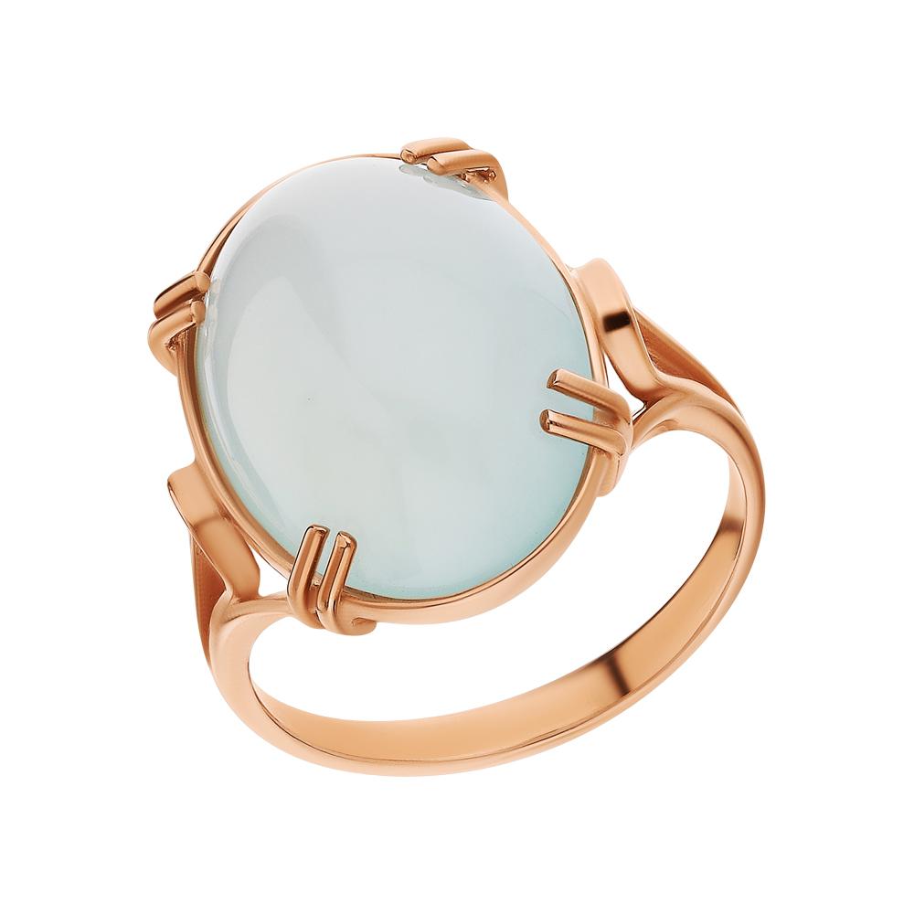 Золотое кольцо с халцедонами в Екатеринбурге