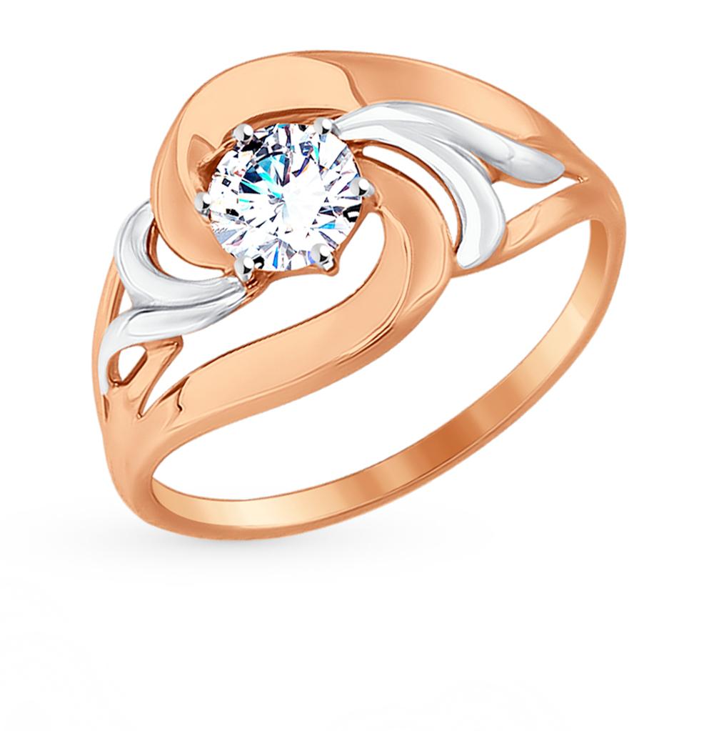 золотое кольцо с фианитами SOKOLOV 017543*