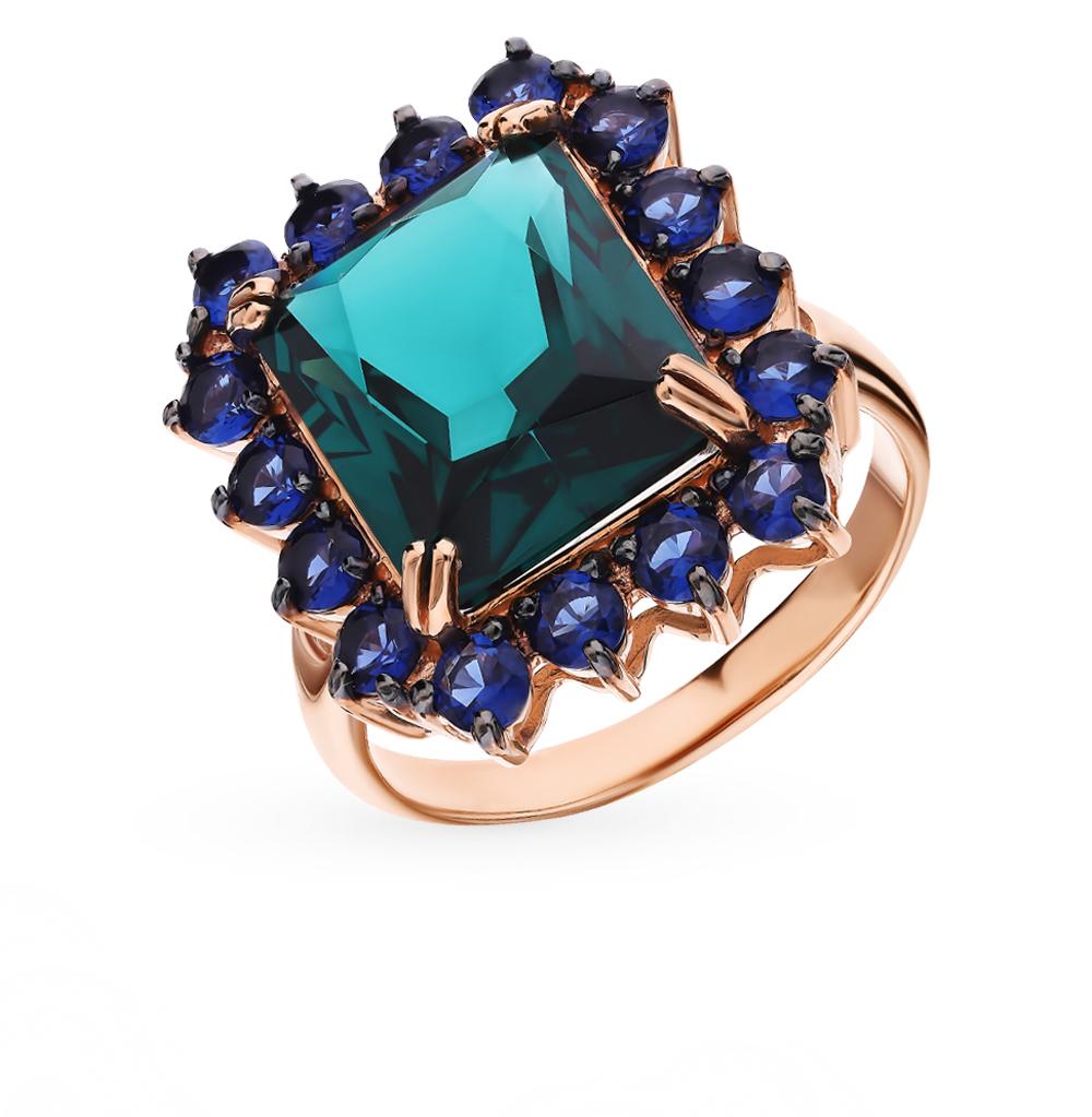 Фото «Золотое кольцо с турмалинами и со шпинелью»