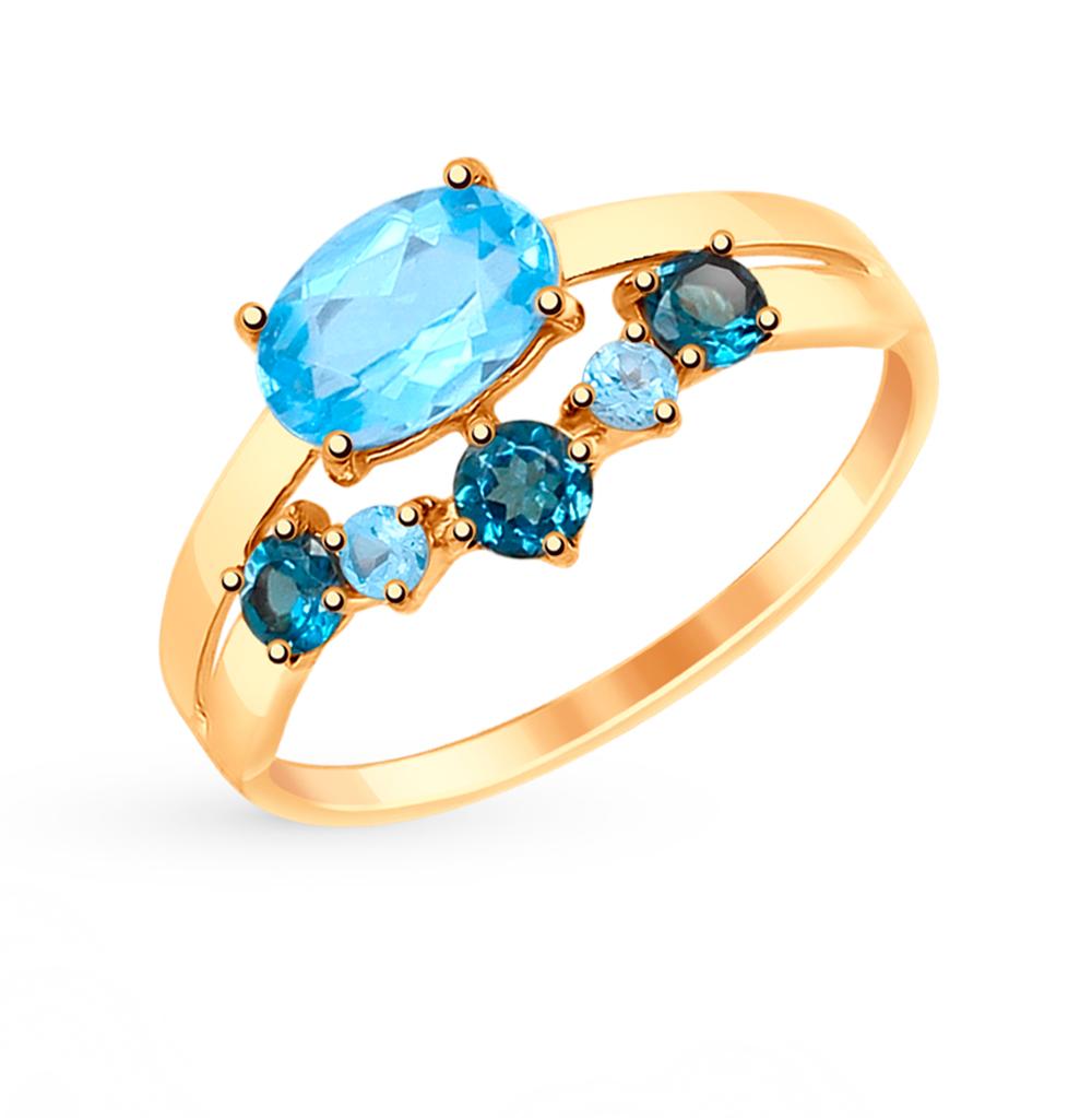 Золотое кольцо с топазами SOKOLOV 714996* в Екатеринбурге