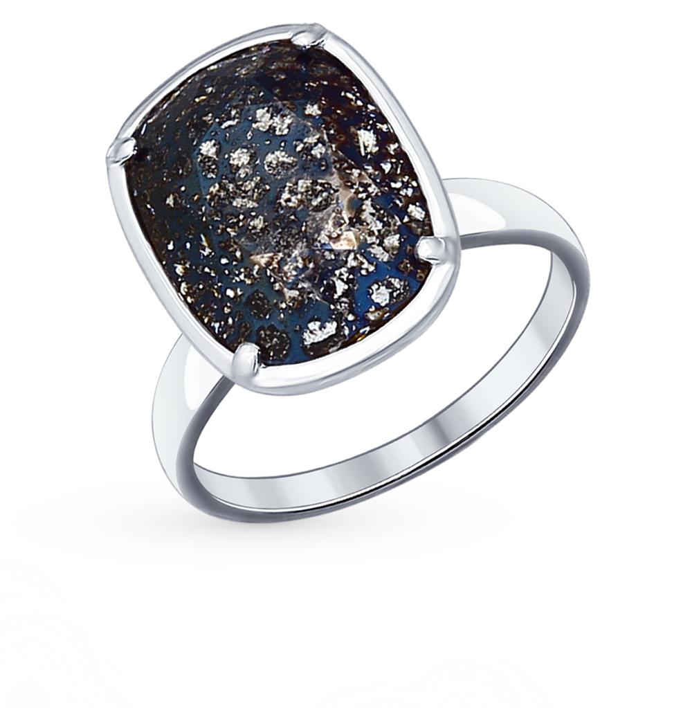 серебряное кольцо с кристаллами swarovski SOKOLOV 94012061