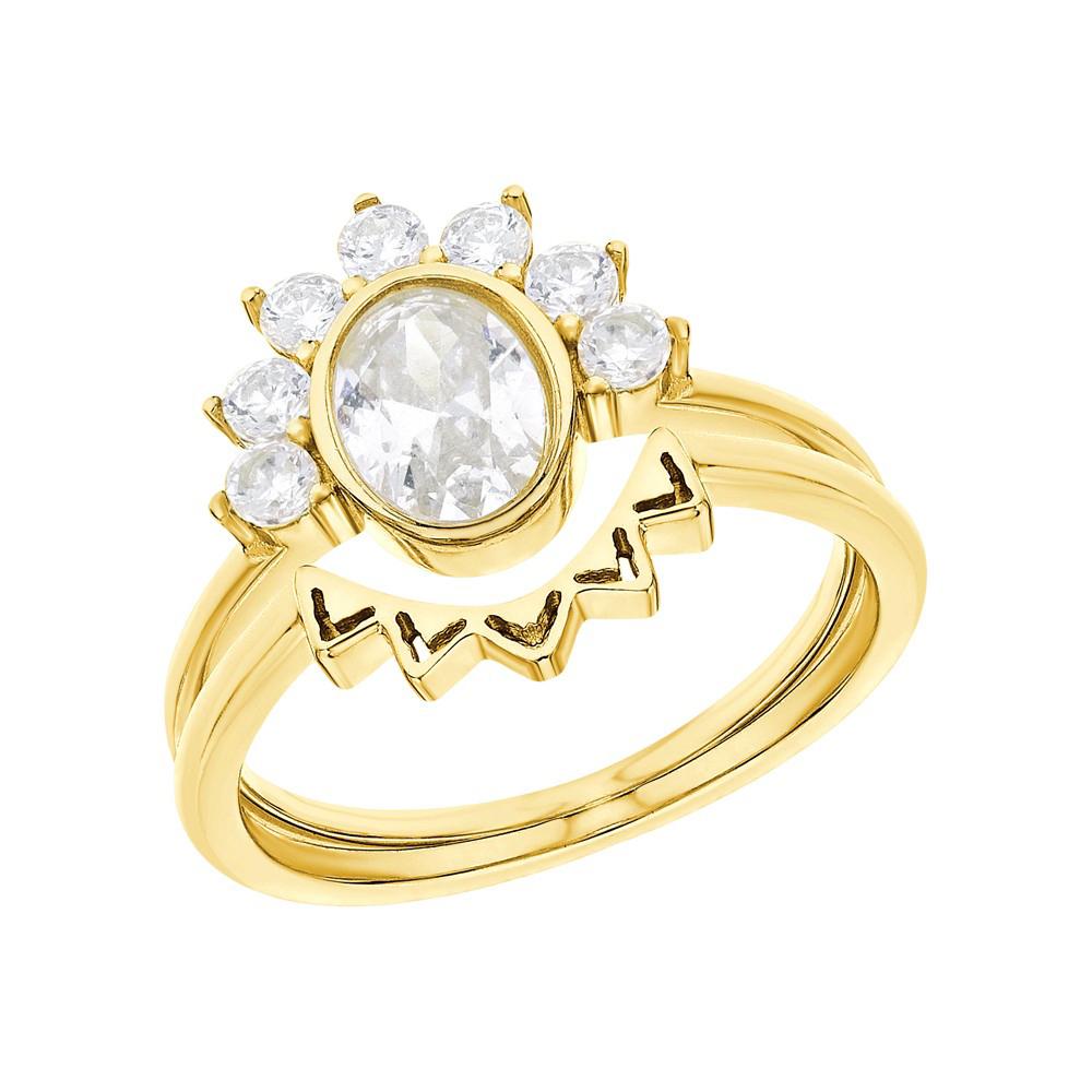 Серебряное кольцо с алпанитом и фианитами в Екатеринбурге