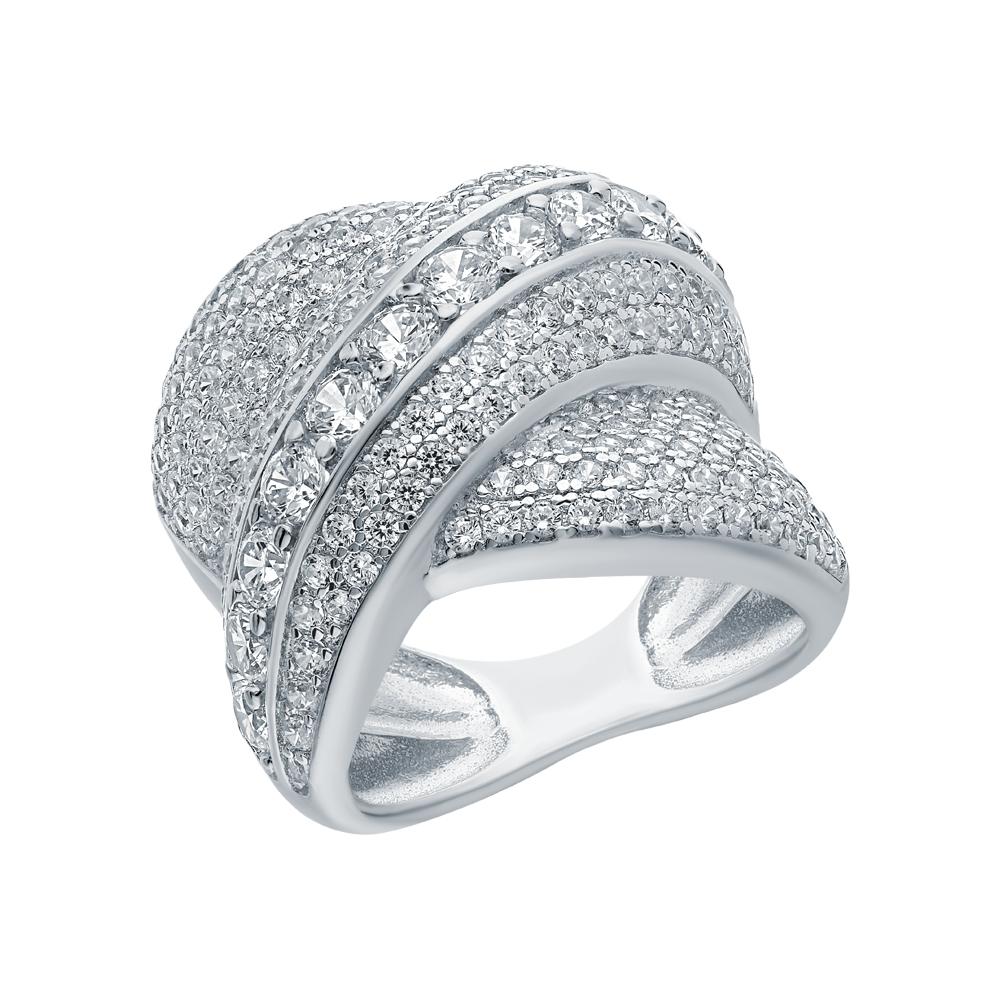 Серебряное кольцо с цирконием и кубическими циркониями в Екатеринбурге