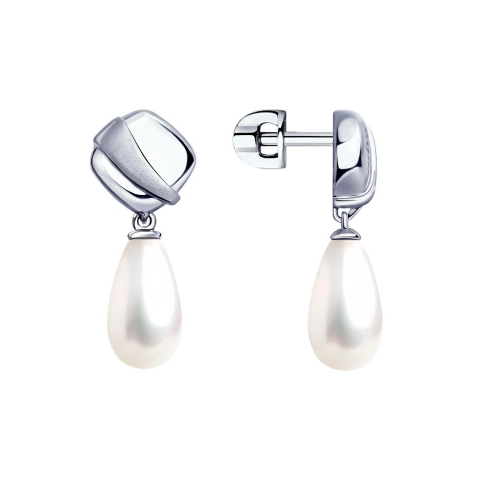 Фото «Серебряные серьги с жемчугом SOKOLOV 94023355»