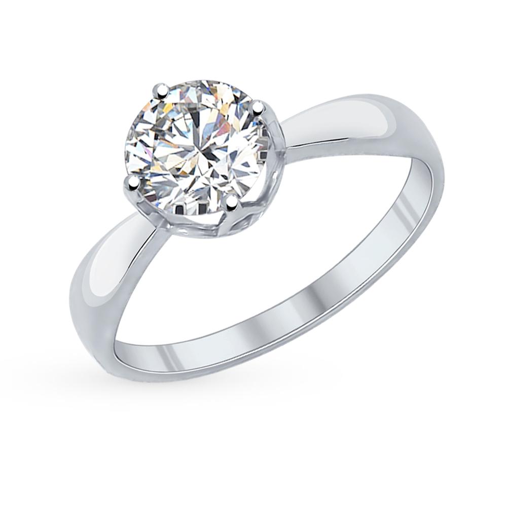 серебряное кольцо с фианитами SOKOLOV 89010030