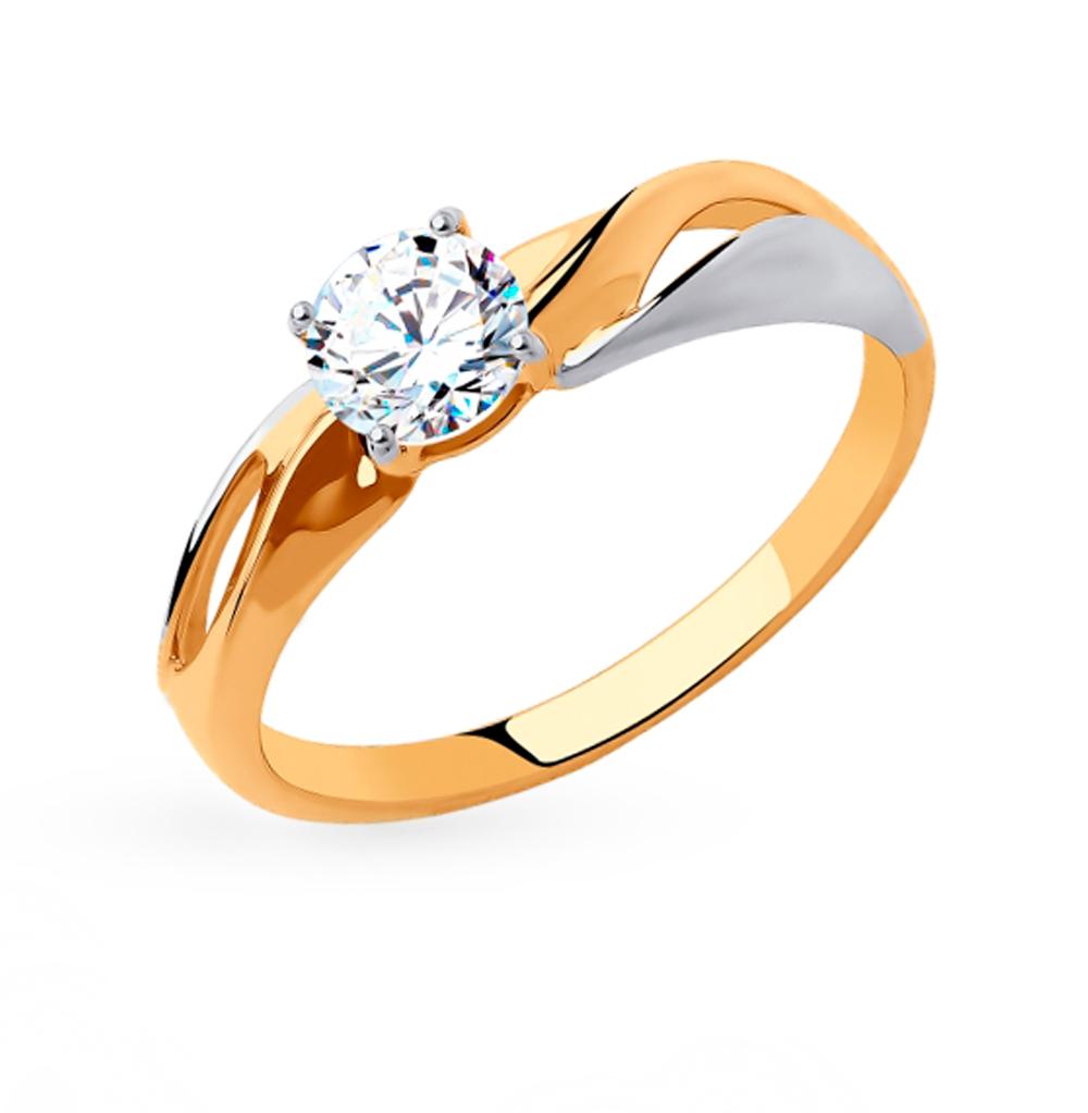 Фото «Золотое кольцо с фианитами SOKOLOV 018321»