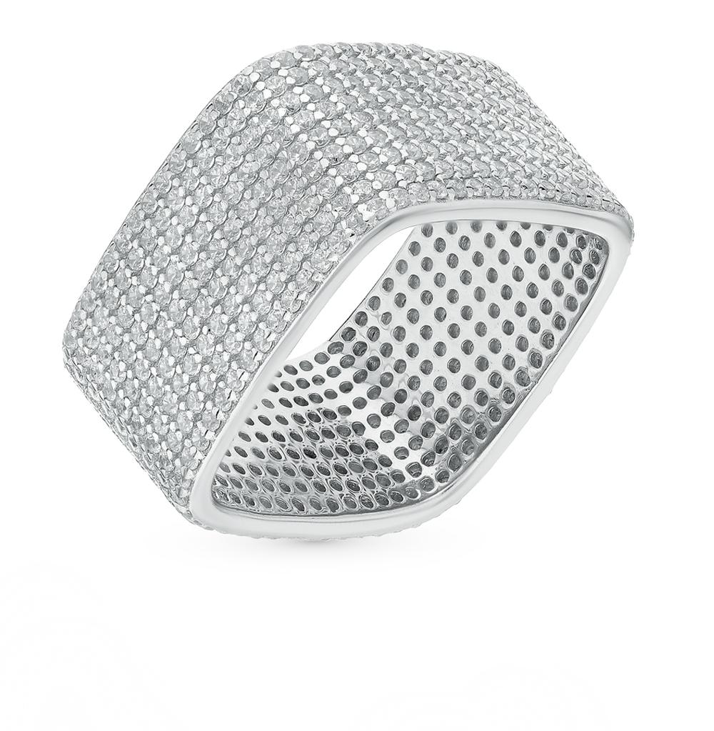 Серебряное кольцо с фианитами от SUNLIGHT