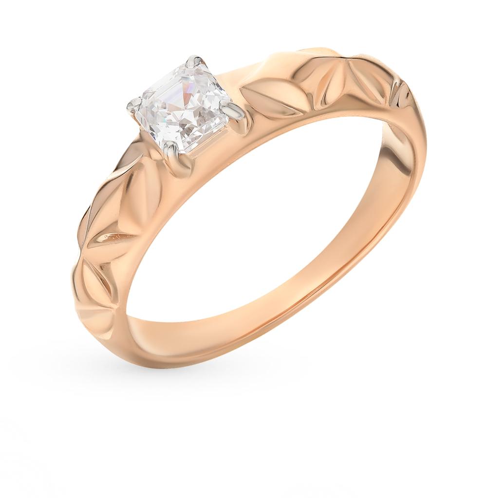 Фото «Золотое кольцо с фианитами SOKOLOV 81010266*»