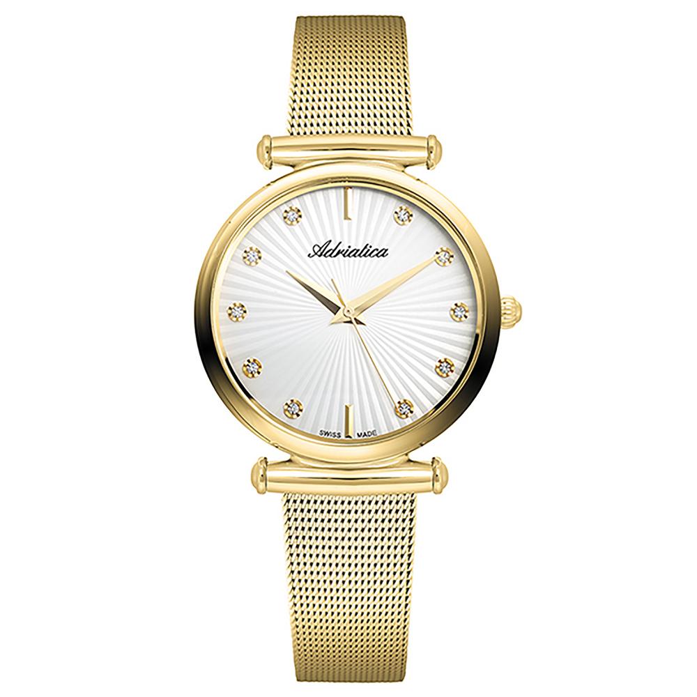 Женские часы A3518.1193Q на стальном браслете с PVD покрытием с минеральным стеклом