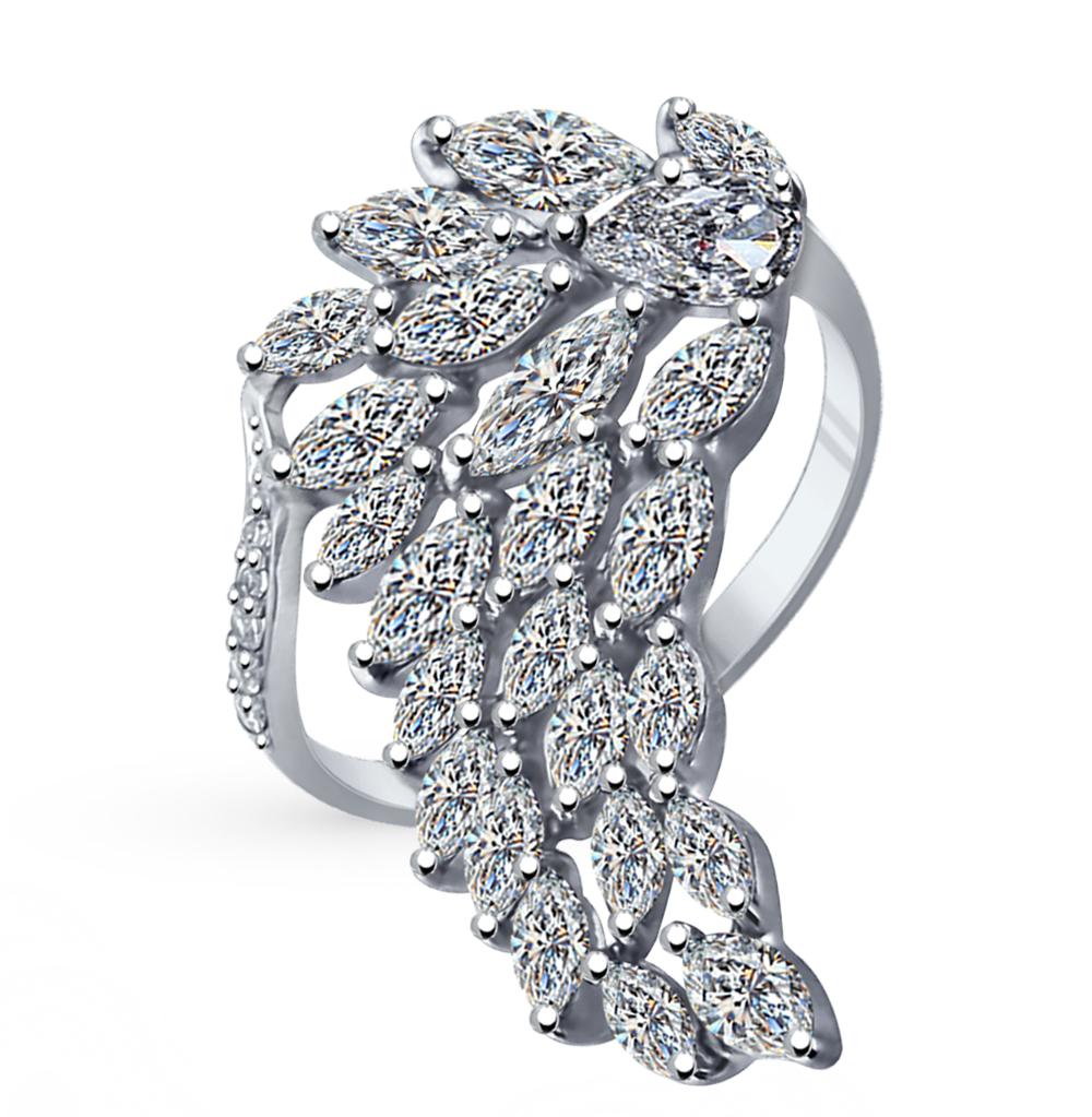 серебряное кольцо с фианитами SOKOLOV 94011942