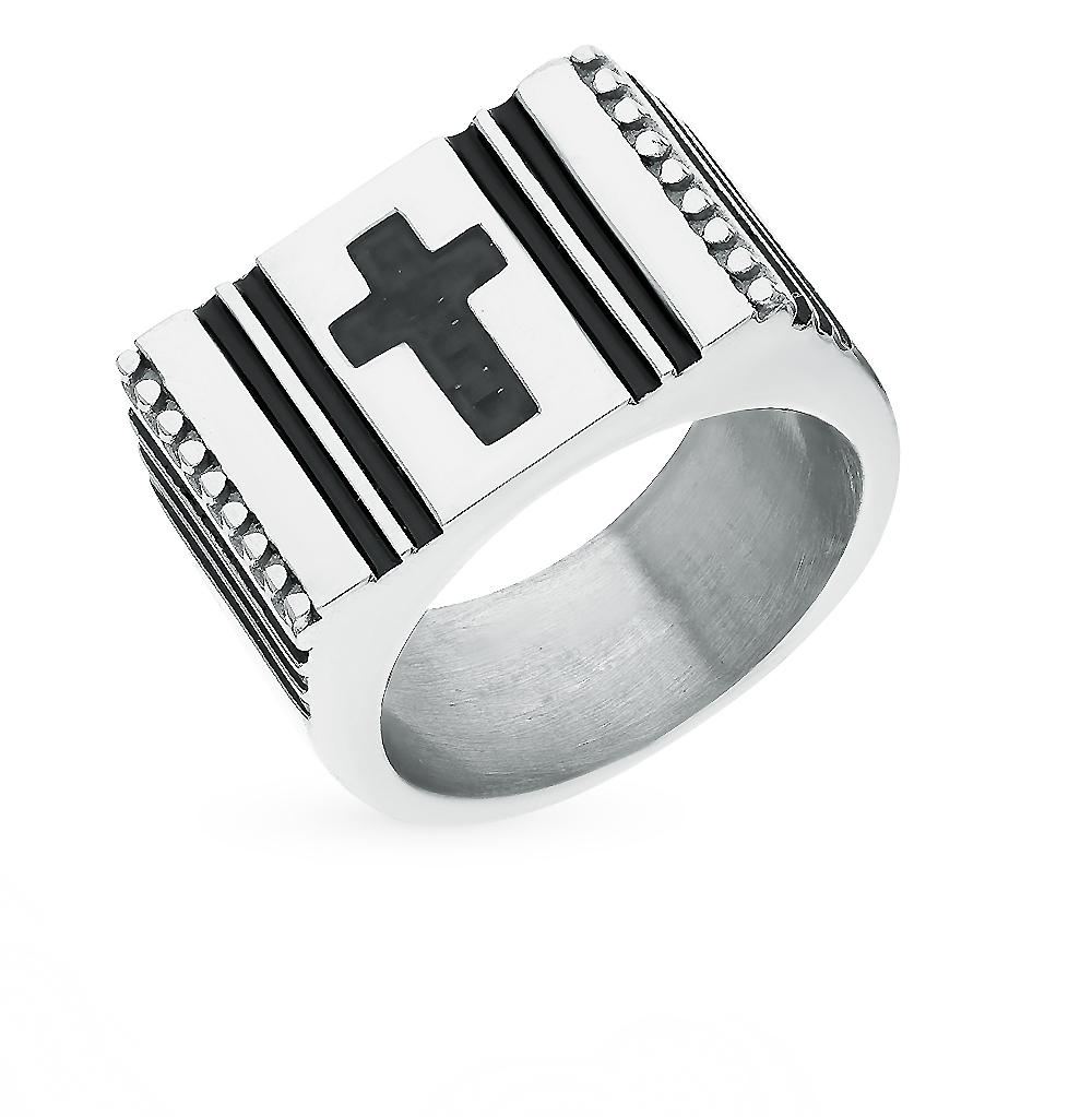 кольцо из стали с карбоном и эмалью