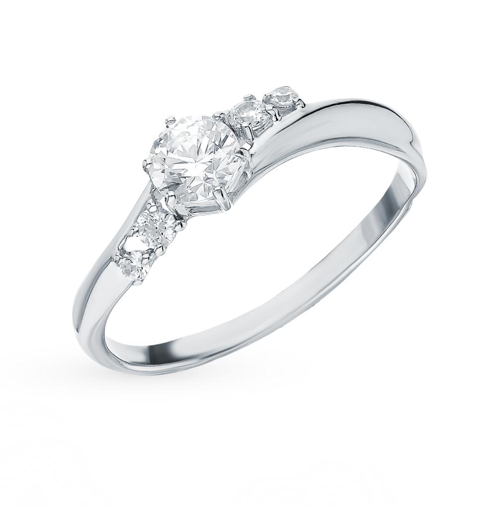 золотое кольцо с фианитами SOKOLOV 81010396*