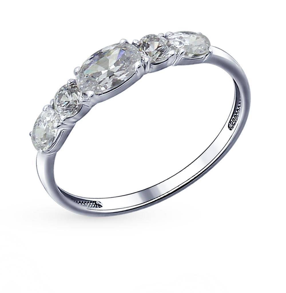 серебряное кольцо с фианитами SOKOLOV 94011484