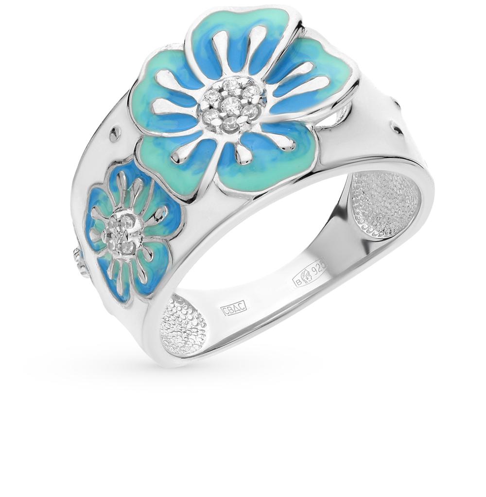 серебряное кольцо с фианитами SOKOLOV 94011498
