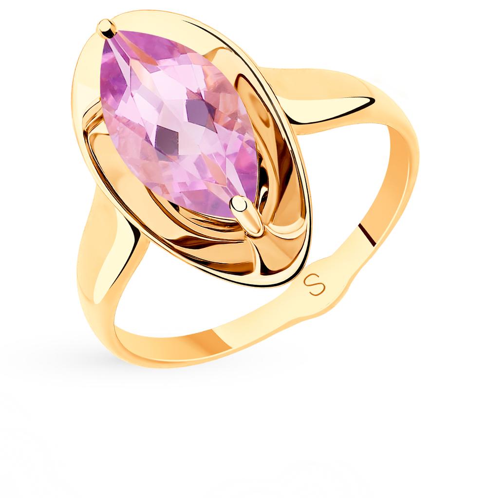 золотое кольцо с аметистом SOKOLOV 715531*