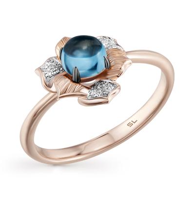 Фото «кольцо с топазами и бриллиантами»