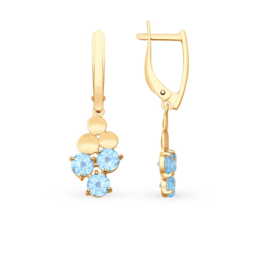 Фото «Золотые серьги с топазами SOKOLOV 725707*»
