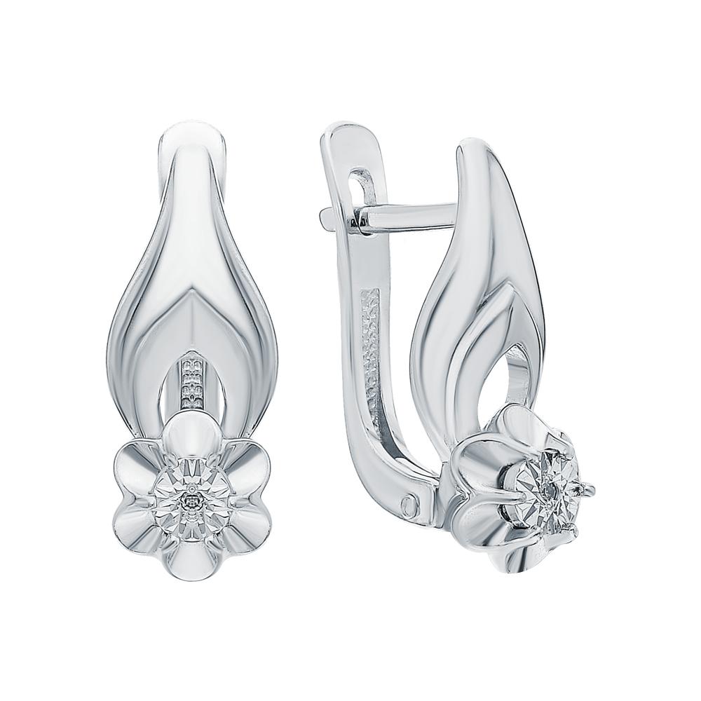 Фото «Серебряные серьги с бриллиантами»