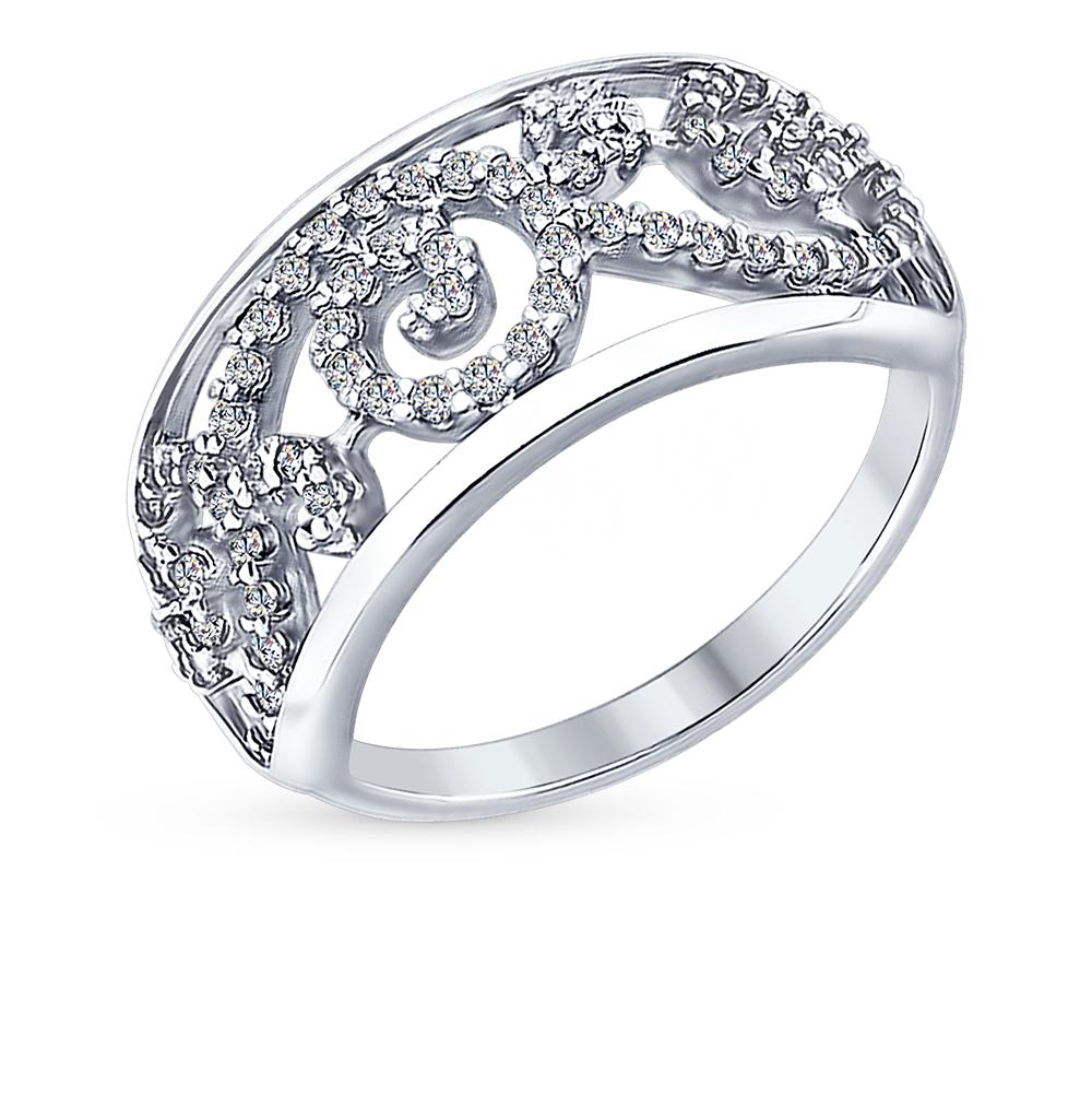 Серебряное кольцо с фианитами SOKOLOV 94012304 в Екатеринбурге