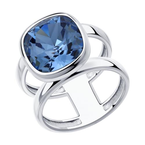 Серебряное кольцо с кристаллами  Swarovski SOKOLOV 94013180 в Екатеринбурге